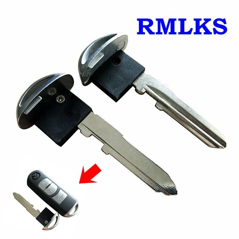Reemplazo RMLKS hoja clave de emergencia inteligente insertar llave para 2006-2013 Mazda 3 5 6 CX-5 CX-7 CX-9 MX-5 Miata RX-8