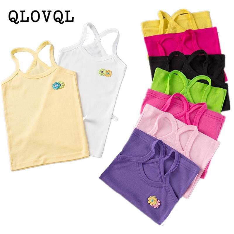 Camiseta sin mangas de 6, 8, 10 y 13 años para niñas, camiseta de flores de verano para niñas pequeñas, Tops de algodón para adolescentes, camisetas para niños