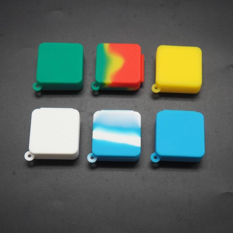 100 шт  ЛОТ 9 мл силиконовая маленькая сиамская квадратная коробка без ручки силиконовая банка для воскового масла, одобренная FDA 6 видов цвет...