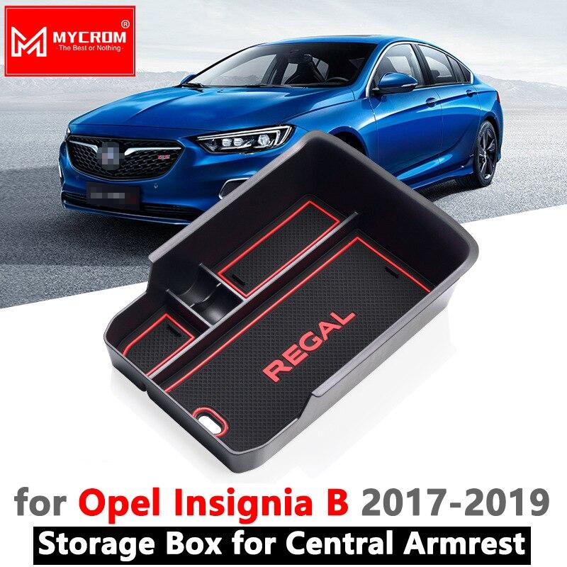 Caja de almacenamiento de reposabrazos para Opel Insignia B 2017 2018 2019 MK2 Buick Regal Vauxhall Holden Commodore OPC GSI, accesorios organizadores