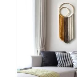 Tapeçaria de parede macrame 30*60cm, tapeçaria de parede de mandala tecido à mão, decoração mexicana, tapeçaria de parede de pendurar