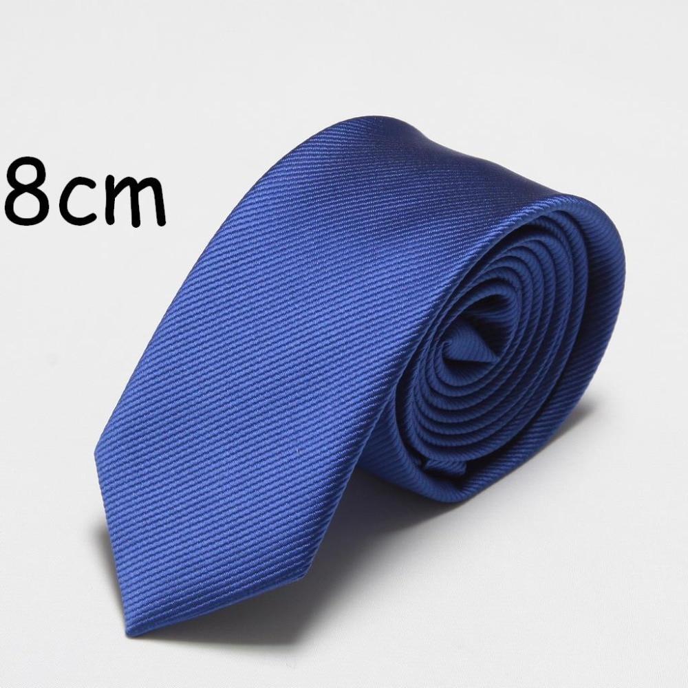2019 New fashion ties for men 8cm width neck tie wedding business blue