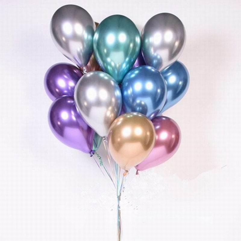 1 Набор 50 шт 5/10 дюймов новые хромированные шары из латекса цвета металлик металлические глобусы надувные гелиевые шары для дня рождения Дек...