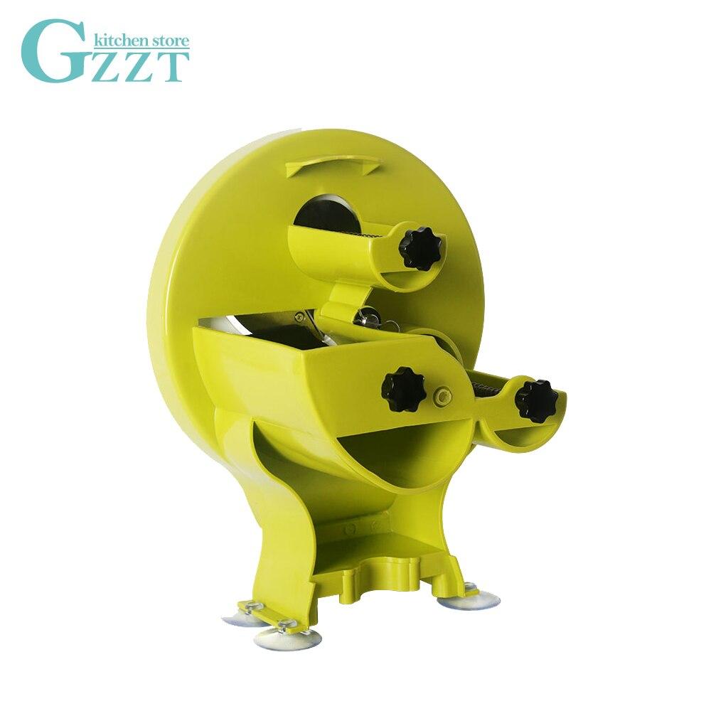 Cortadora Manual de frutas GZZT, cortadora de limón multifunción para verduras comercial/doméstica de gran oferta, grosor de 0,8-8 MM con 3 entradas