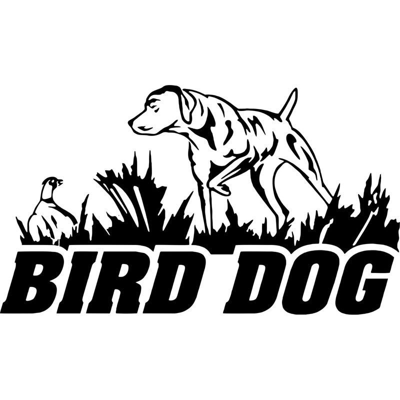 16CM * 9,2 CM pájaro perro caza faisán pato coche barco decoración de automóviles con calcomanías coche Stylings negro plata C8-0407