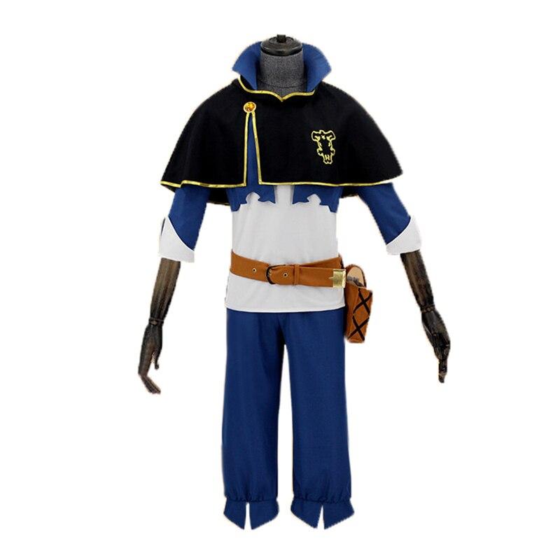 Envío Gratis trébol negro Asta Bull Cosplay traje uniforme traje chaqueta diadema capa conjunto completo