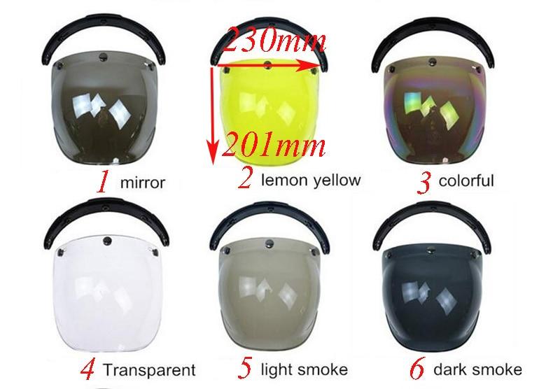 Motorcycle Helmets Visor Retro Vintage Bubble Visor Half Face Helmet Mask Accessories Motocross Helmet Style Capacet enlarge