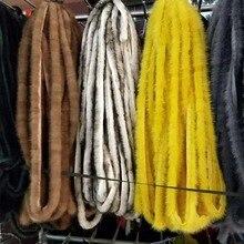 Bandes de garniture queue de vison marron   Pour vêtements, chaussures et chapeaux, accessoires