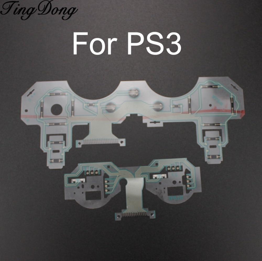 TingDong reemplazo SA1Q222A + SA1Q224A cinta placa de circuito PCB Pad de contacto flex cable para PS3 controlador de reparación de la parte