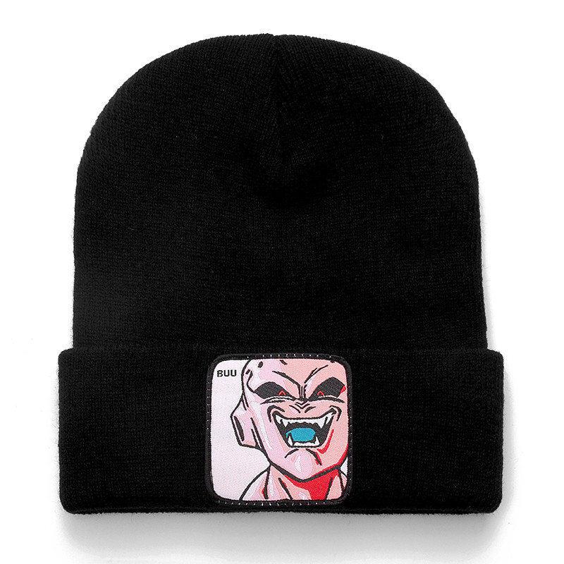 Dragon Ball Z MAJIN BUU Beanie, высококачественные хлопковые Повседневные шапки для мужчин и женщин, теплая вязаная зимняя шапка, модная однотонная шапка унисекс