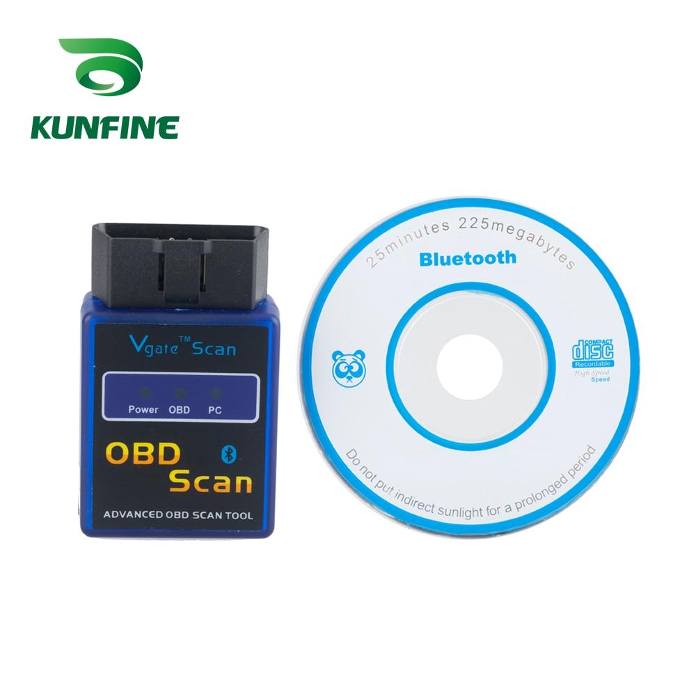 KUNFINE OBD II Vgate Scan ELM327 Bluetooth Auto-detektor ULME 327 Diagnose-tool OBD OBD2 scanner auto Adapter diagnose Tool