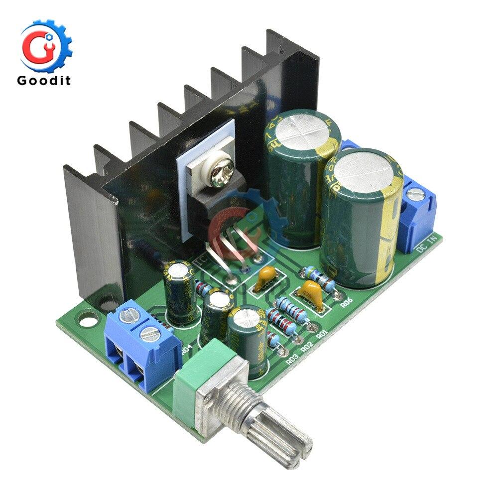 TDA2050 DC 12-24V 10-30W Amp Mono Placa De Amplificador de Áudio Módulo Único Volume De Fornecimento de Energia ajustável 60*35*40mm