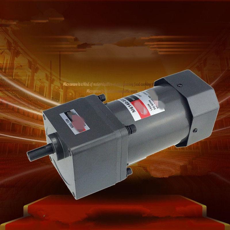 Trifásico 380V 220V monofásico 220V AC Vertical Micro engranaje Motor de alta velocidad ajustable 60W M6140