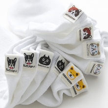 E mädchen 1 pairs socken animal print ankle weiß frauen sommer mode medias cortas de mujer baumwolle nette koreanische kurze nette