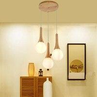 תליון אור creative אישיות נורדי תליון מנורת עץ מסעדת אורות בר מרפסת פשוט יומני תליון אורות LU626 ZL144