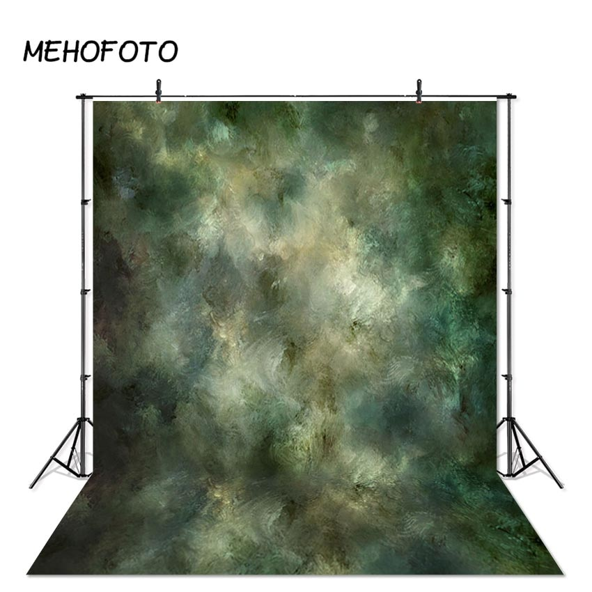 Mehofoto textura verde fotografia pano de fundo abstrato backdrops para photobooth retro retrato cabeça fotos estúdio fundo