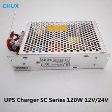 CHUX 120W 12V fonte de Alimentação de Comutação 10A 24V 5A SC-120-12v 24v Universal AC UPS/Carga função de Monitor de SMPS