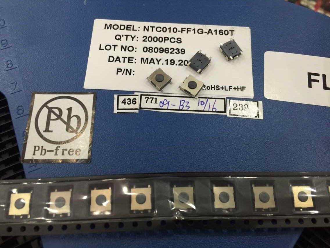 Taiwán Majestic NTC010-FF1G-A160T interruptor de tacto 6*6*2,5 MP3 4 5 tableta dedicada