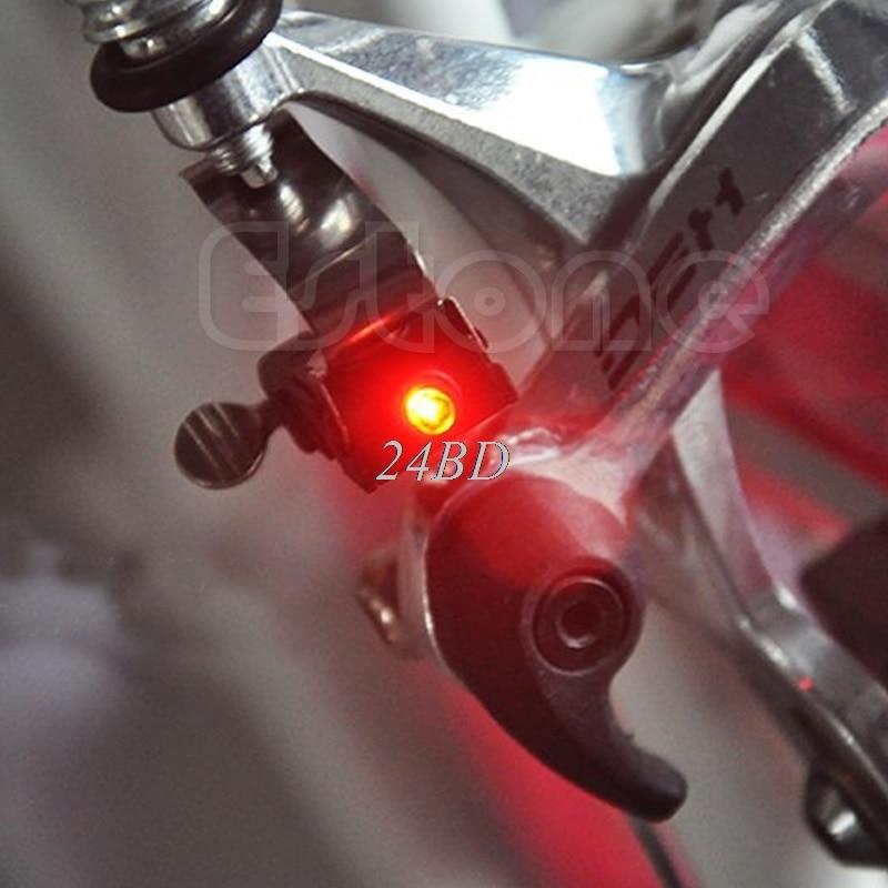 Miniluz de freno para bicicleta, led de Ciclismo de luz trasera con batería CR1025, accesorios D11