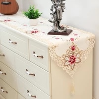 high grade embroidery table runner weding decoration bed runner cabinet cover cloth country decor obrus pokojowy chemin de table