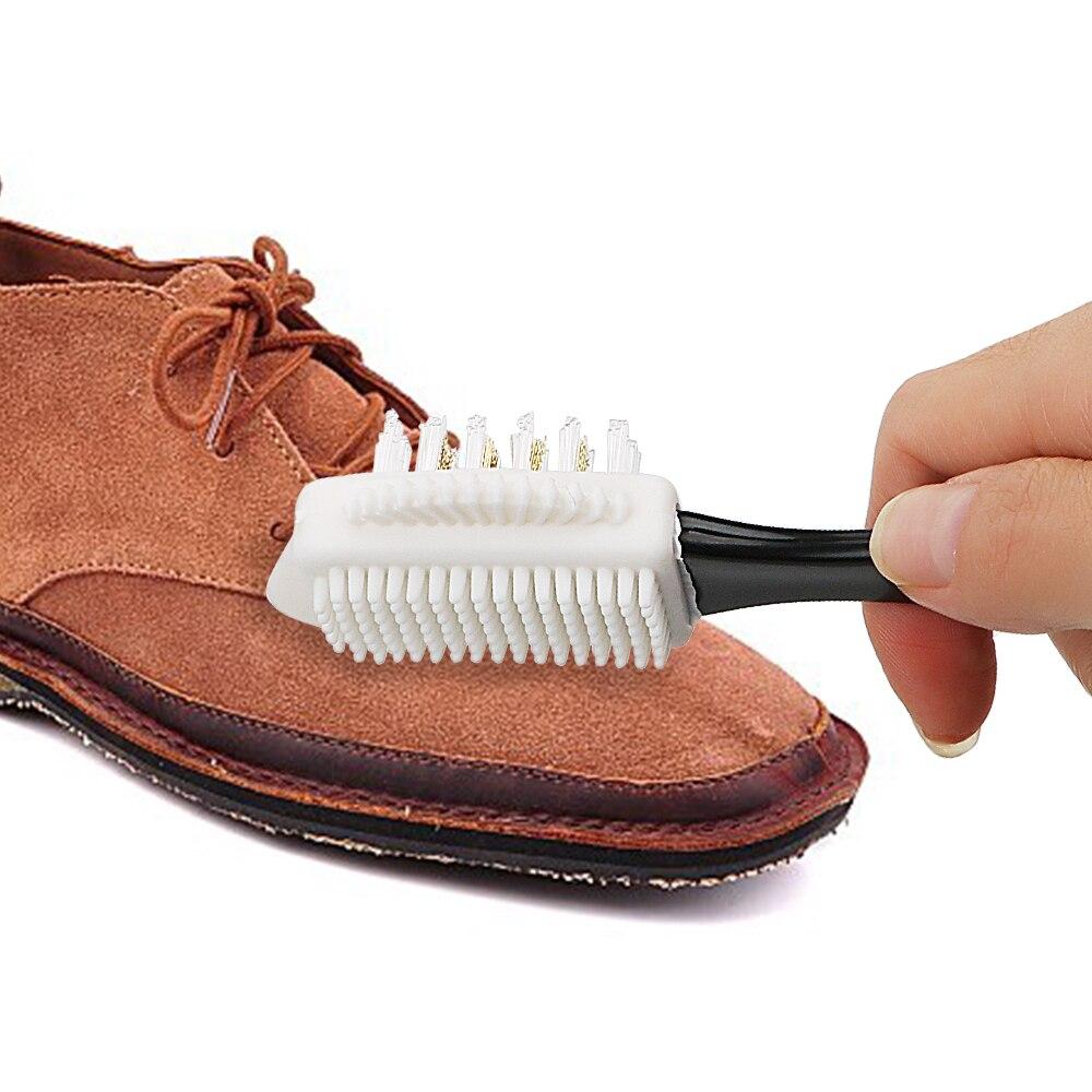 Outil de nettoyage S forme multifonction Silicone fil de cuivre chaussures brosse 3 côtés brosse à chaussures pour Nubuck daim chaussures de démarrage