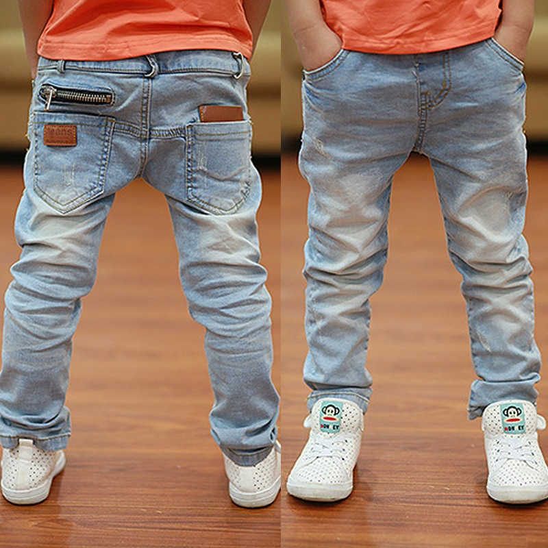 Kids Pants Big Boys Stretch Joker Jeans 2020 Spring Children Pencil Leggings Autumn Denim Clothes For 2 to 14 Years Male Child