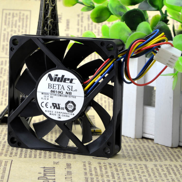 Nidec 7015 7 CM U70R12MS1BB-57T02 12 V 0.11A 4 fio silêncio cooling fan 70X70X15 MM