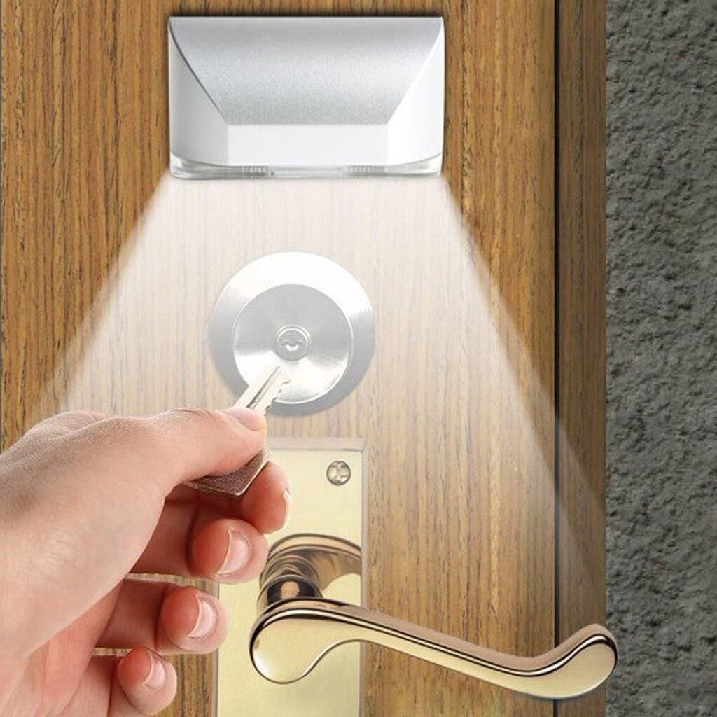 Cerradura de puerta de inducción de emergencia, lámpara de noche LED, cerradura de puerta inteligente, llave de armario, lámpara con Sensor de luz nocturna pequeña de inducción # tx30