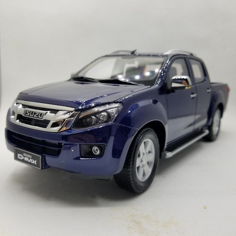 Modelo de fundición a presión para ISUZU D-MAX, camioneta azul, juguete de aleación, colección de coches en miniatura, regalos D MAX DMAX camión
