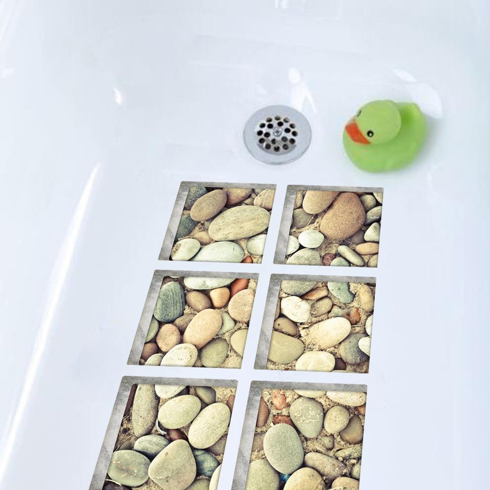 Pegatina de bañera impermeable antideslizante 3D de Funlife, pegatina de bañera autoadhesiva, adoquines para ducha para niños, alfombrillas de baño, decoración de baño