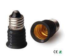 (SPL-081-L7) 300 unids E11 a E12 PBT/PC lámpara LED CFL bombilla E12 ~ E11 adaptador