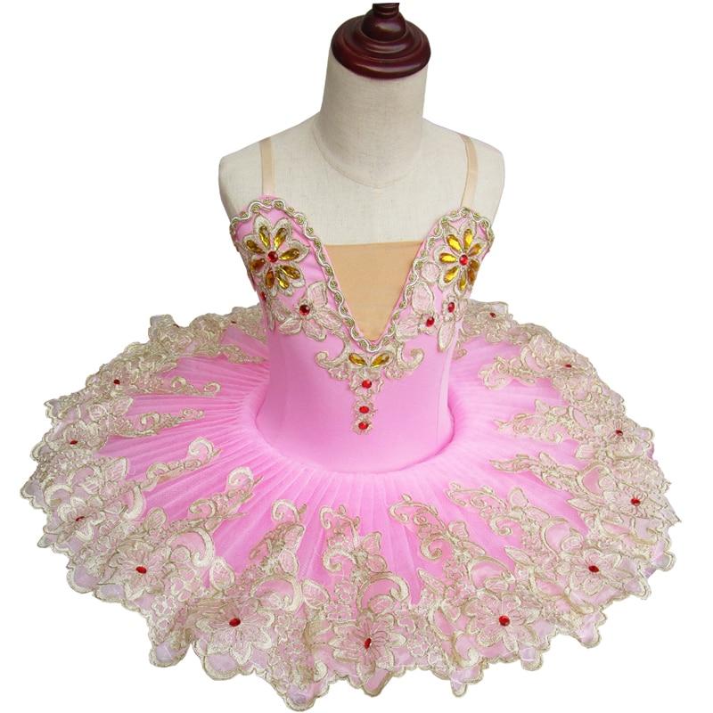 Professional Adult Ballet Dance Costume Tutu Fluffy Skirt Children Strap Little Swan Stage Performance Clothing