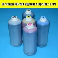 5 literlot pfi 703 cartridge refill ink kit for canon ipf810 ipf815 ipf820 ipf825 810 815 820 703 printer pigmentdye ink