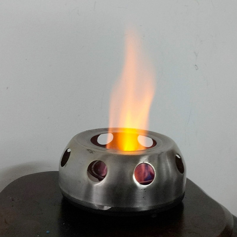 1 ud. Estufa de acero inoxidable estufa de Alcohol portátil ultraligera estufa de barbacoa de Camping al aire libre con soporte VEO66 P30