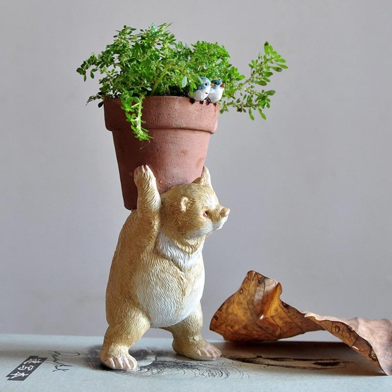 اليومي جمع البسيطة لطيف الجنية حديقة الحيوان زهور المنزل الديكور الدب وعاء للزهور الزراعة المائية زارع الأواني