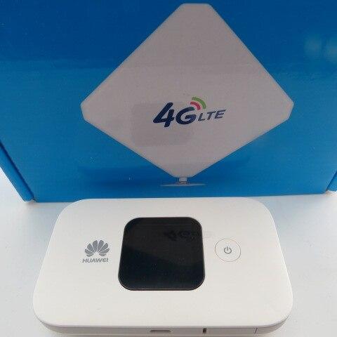 Huawei wi-fi móvel e5577s-321 grande bateria (branco) + 35dbi 4g antena de alto ganho omni interior