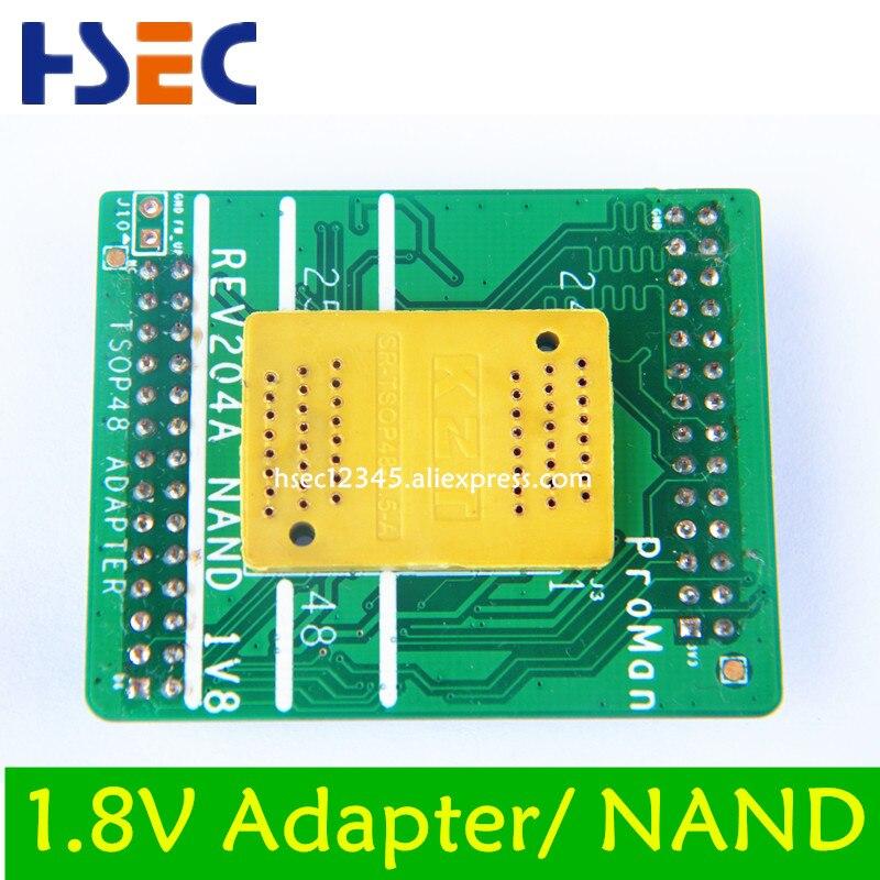 Envío Gratis 1,8 V TSOP48 BGA63 base boad para NAND ProMan TL866 _ profesional programador flash