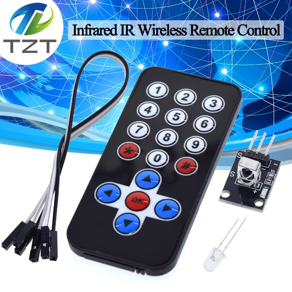 Kits de Módulo de Control Remoto inalámbricos por infrarrojos, Kit DIY HX1838 para Arduino Raspberry Pi