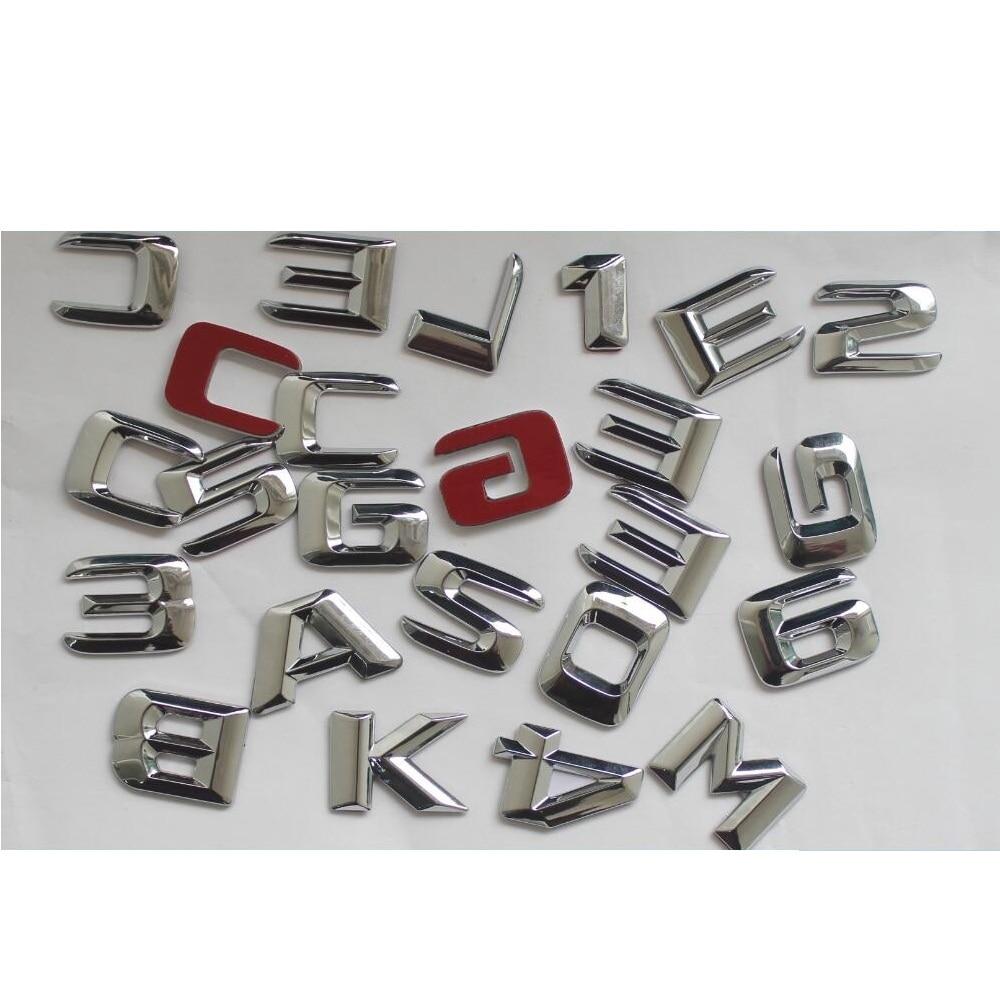 Cromo maletero cartas número emblema emblemas distintivos para Mercedes Benz AMG W176...