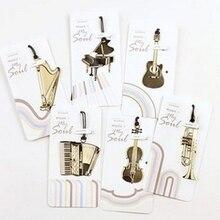 Signet de guitare signets créatifs métal marcador de livro Instruments de musique marcador segnalibro papelaria mignon