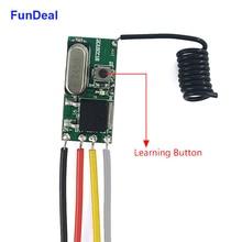 433MHz Universal Wireless Remote Control Switch Receiver Micro Mini DC 3.6V 12V 24V 1CH RF Power Saving LED Light Switch DIY Kit
