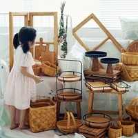 sweetgo 30 pieces wood cake stand set forest style cake tools showcase tray outdoor wedding dessert table party supplier
