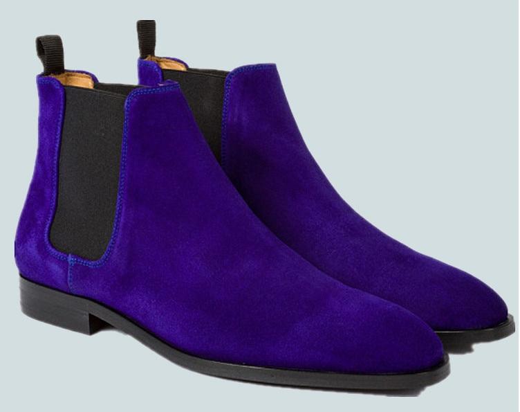 ¡Nuevo estilo! Botas Martin de estilo informal para hombre de Inglaterra para otoño e invierno, botas de ante de vaca de Color mezclado con banda elástica, botines de alta calidad