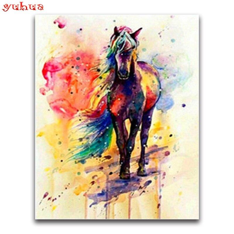 YUHUA 5D алмазная Картина Вышивка Лошадь Алмазная мозаика Сделай Сам полностью