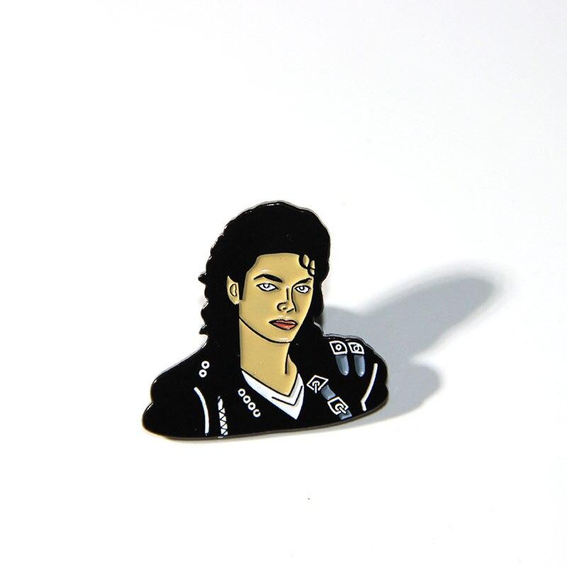 Модная металлическая брошь в форме Майкла, эмалированные булавки для женщин и мужчин, булавка на лацкане, рюкзак, сумки, значок, броши, подар...