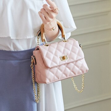 NEW Brand Fashion Woman Crossbody Bag Promotional Ladies Totes luxury PU Leather Handbag Chain Shoulder Bag Plaid Women Bag