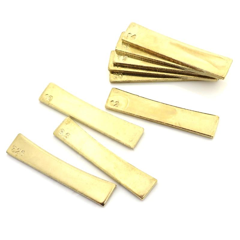 Raio de guitarra dourada fingerboard traste imprensa caul inserção para guitarrista luthier ferramenta
