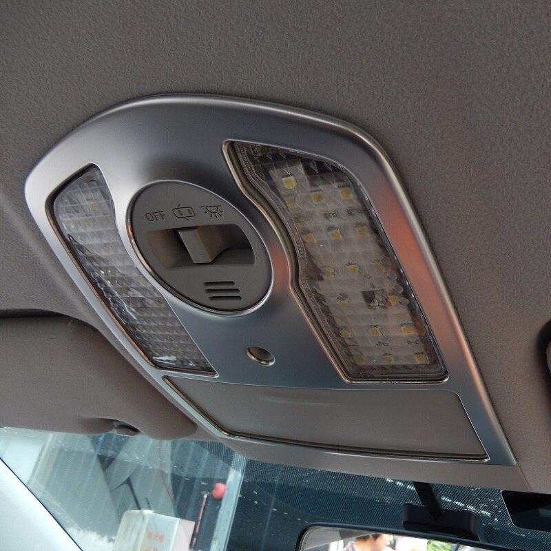 Marco de cubierta de ajuste para lámpara de lectura de techo delantero de acero inoxidable para Toyota Prius 30 ZVW30 2010 2011 2012 2013 2014 2015