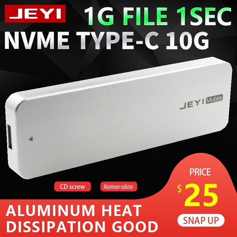 Jeyi i9 nvme completo alumínio typec3.1 caixa hdd móvel optibay hdd tipo de caso c3.1 jms583 m. 2 usb3.1 m.2 pcie ssd u.2 pci-e typec