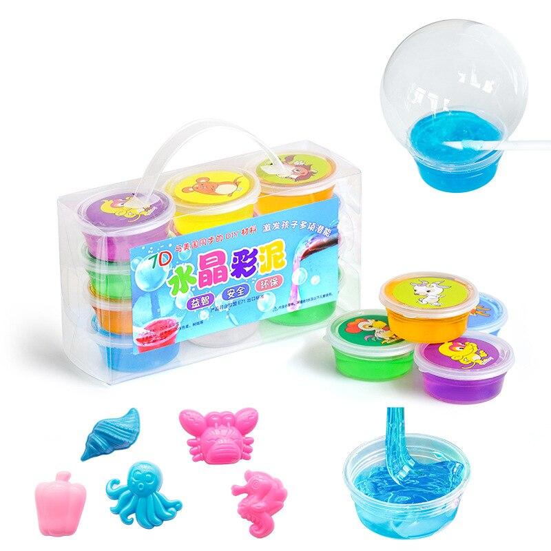 12 Box/Set Magia Plasticina Argila Lodo DIY Jogo de Lama de Cristal Transparente Brinquedos Do Miúdo Do Miúdo Crianças de Educação que A Criatividade E Imaginação
